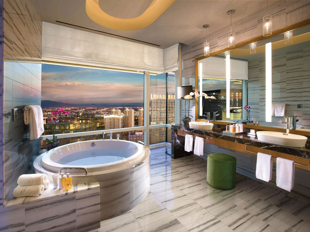 Luxury Vegas Hotel Bathrooms To Get Ready For A Night Out On The Strip