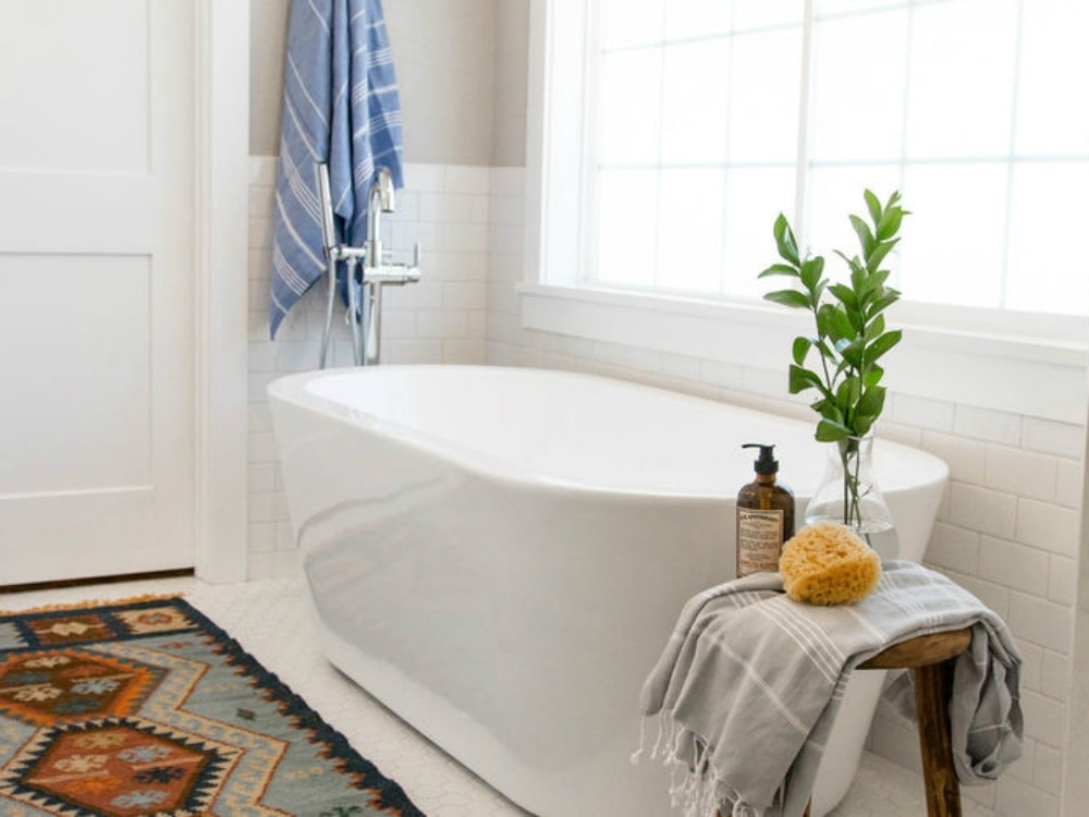 This Vintage 1970s Bathroom Gets A Rustic Modern Makeover