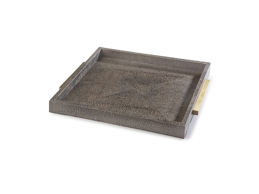 Bloomingdale's gray tray.