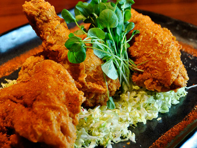 Blue Ribbon-style fried chicken at Blue Ribbon Sushi Bar & Grill