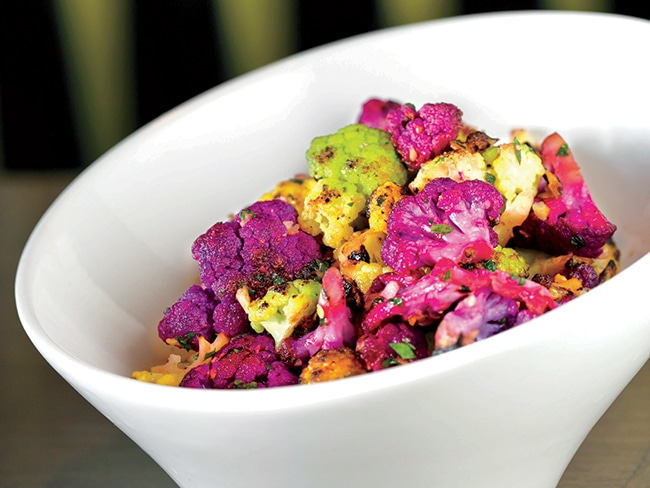 Rainbow cauliflower, from Carson Kitchen's farm-fresh menu.