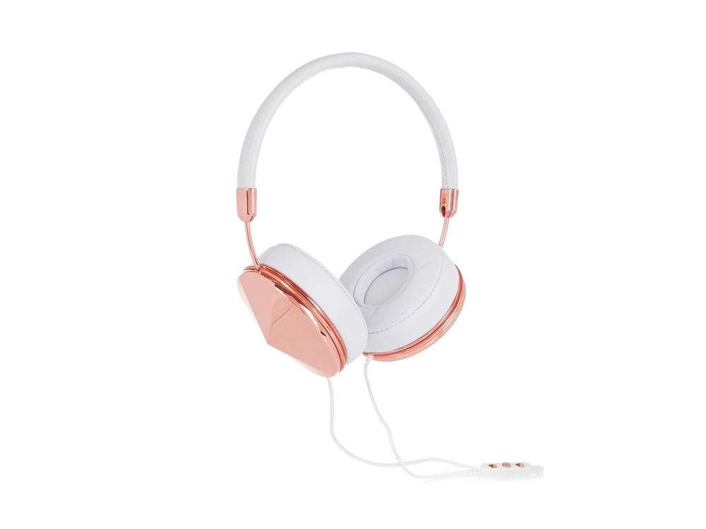 Frends Taylor Leather & Rose Gold-Tone Headphones