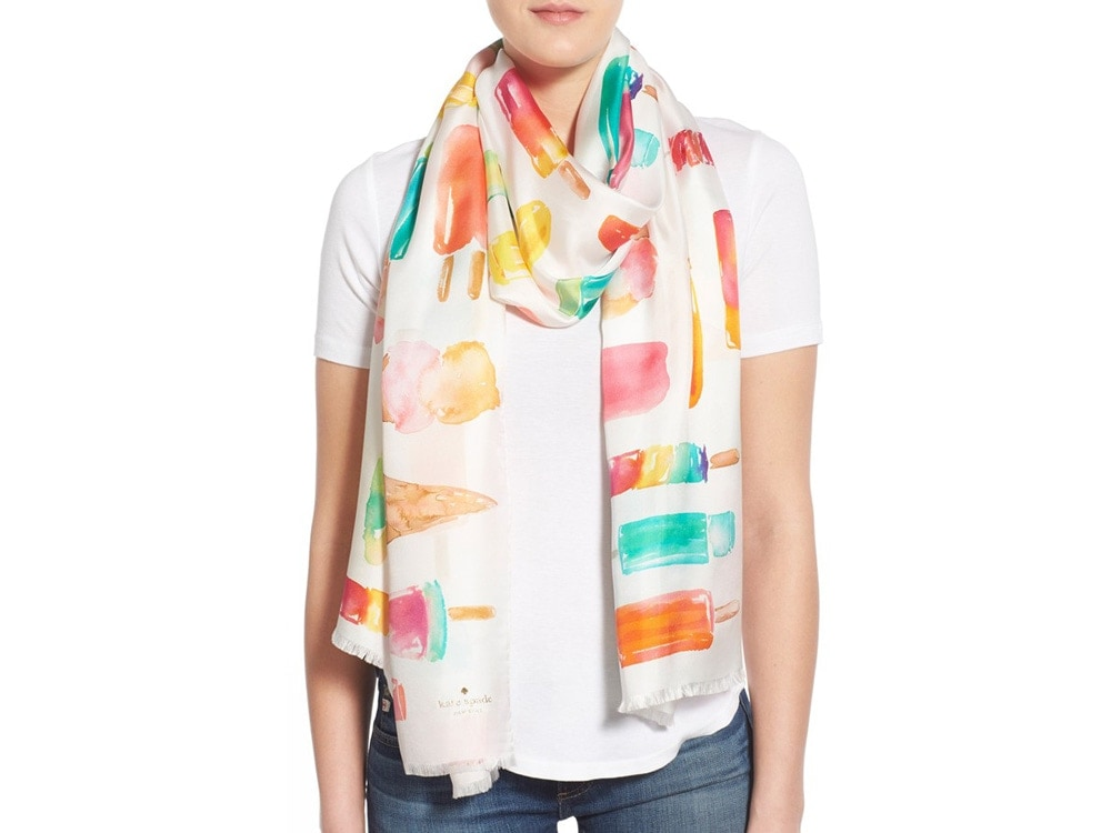 Kate Spade New York 'Flavor of the Month' Print Silk Scarf