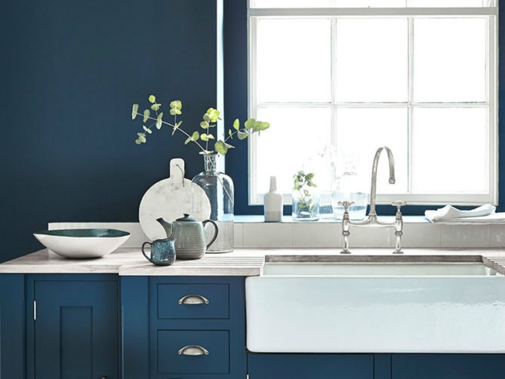 Blue Kitchen Colors. Kitchen Color 1 houzz jpg Give Your a Timeless Look with One of These Paint Colors