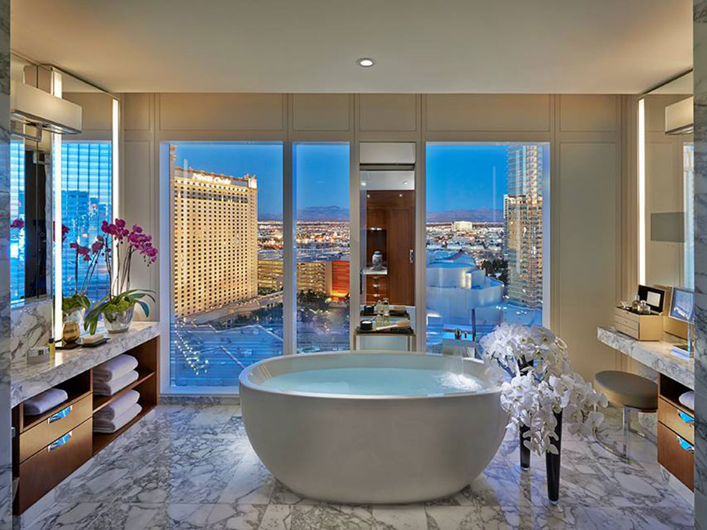 Peek Inside The Best Hotel Bathrooms To Get Ready For A Night Out In Vegas
