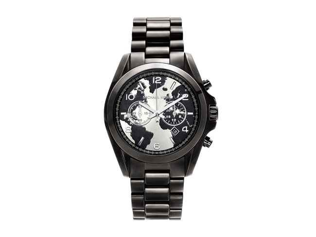 Michael Kors Bradshaw 100 watch in black.