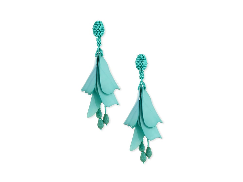 Oscar de la Renta Impatiens Flower Drop Earrings