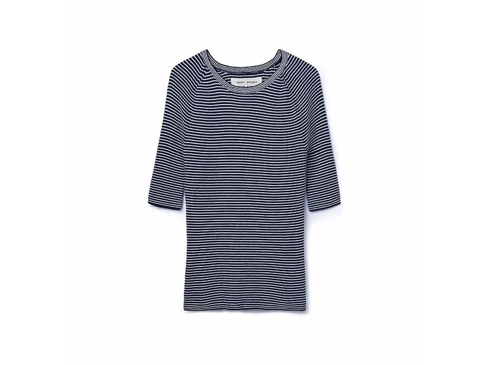 Performance Ribbed Knit Top Tory Burch Sport.