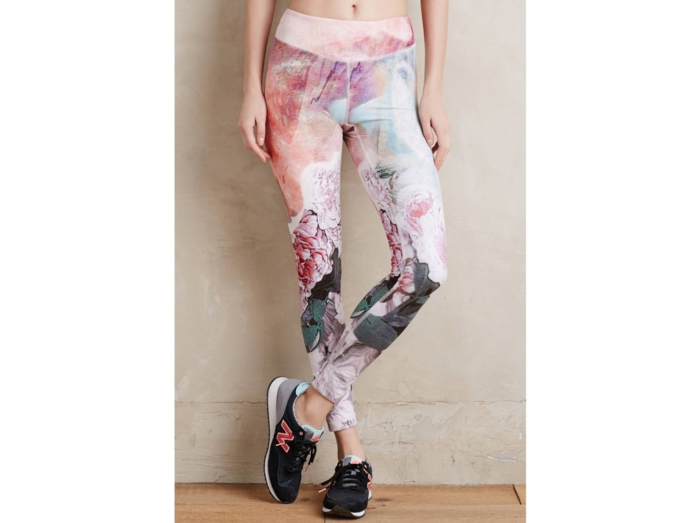 Pure and Good Frosted Floral Leggings