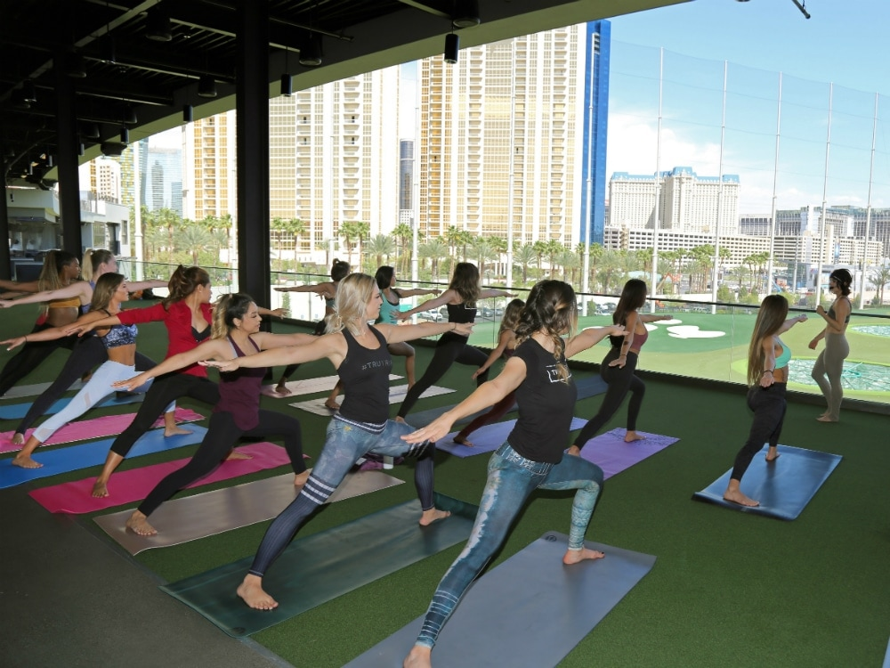 Topgolf Las Vegas to Offer Weekly Yoga Classes With a View