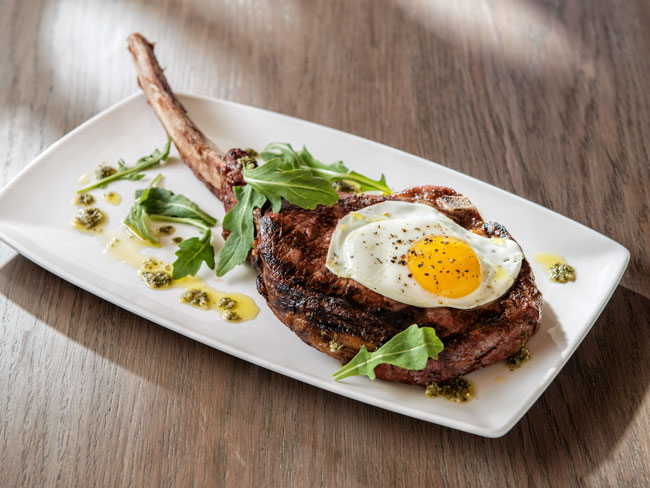 The Tuscan Rib-Eye Dish at Giada