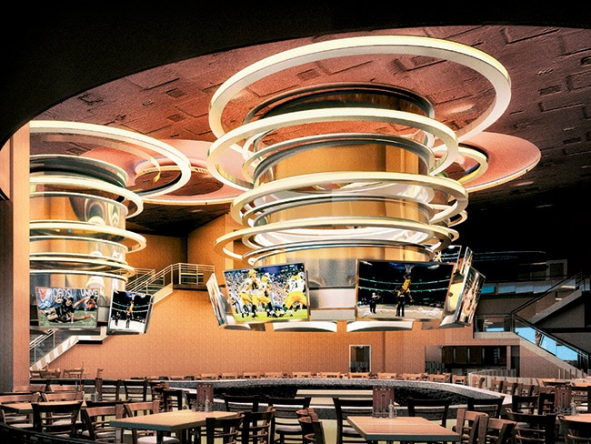 A rendering of the new Hooters at the Palms.