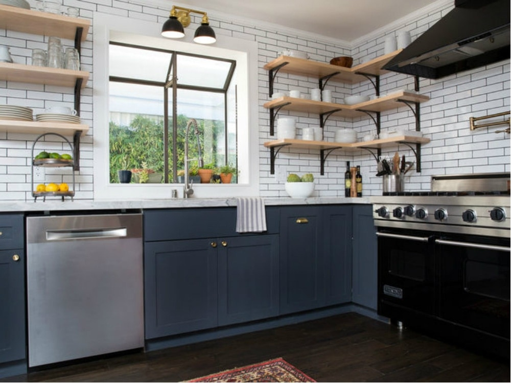A stunning industrial and french bistro style kitchen in vegas for Houzz magazine