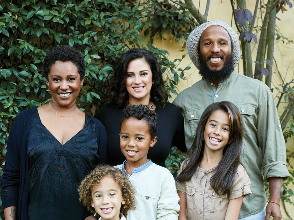 Ziggy Marley and family.