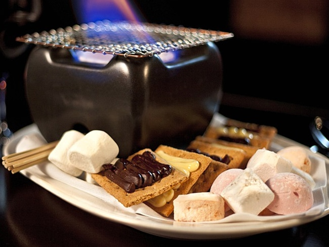 The Some More S'mores at N9ne Steakhouse embraces the do-it-yourself process